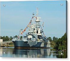 Uss North Carolina Battleship Acrylic Print