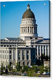 Utah State Capitol Building, Salt Lake Acrylic Print by Panoramic Images