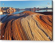Utah Weathering Pit Ridge At Lake Acrylic Print by Jaynes Gallery