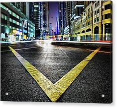 V Acrylic Print by Robert Work