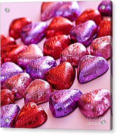 Valentine Hearts Acrylic Print by Elena Elisseeva