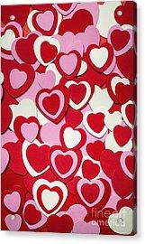 Valentines Day Hearts Acrylic Print