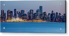 Vancouver City Panorama Acrylic Print by Pierre Leclerc Photography