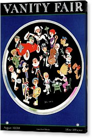 Vanity Fair Cover Featuring Caricatures Doing Acrylic Print by John Held Jr