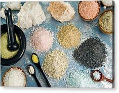 Various Types Of Salt Acrylic Print by Nico Tondini