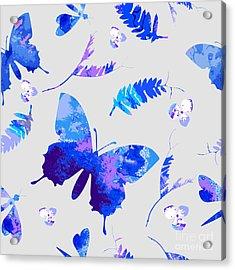 Vector Floral Watercolor Texture Acrylic Print