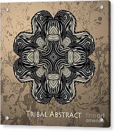 Vector Tribal Abstract Element For Acrylic Print by Kakapo Studio