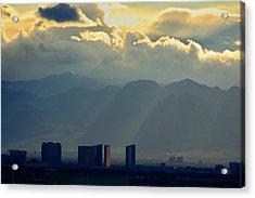 Vegas Sunset After The Storm Acrylic Print