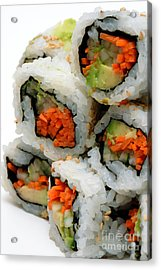 Vegetable Sushi Acrylic Print by Amy Cicconi