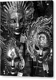Venetian Carnival Masks Acrylic Print by Tom Bell