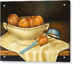 Venetian Table Acrylic Print by Pamela Allegretto