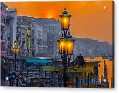 Acrylic Print featuring the photograph Venezia Al Crepuscolo by Juan Carlos Ferro Duque