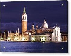 Venice At Night Acrylic Print by Ioan Panaite
