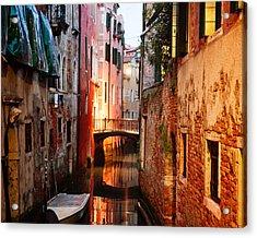 Acrylic Print featuring the photograph Venice Italy Canal by Kim Fearheiley