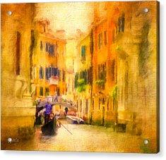 Venice Waterway No. 4 Acrylic Print by Jane Fiala