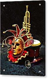 Acrylic Print featuring the photograph Venitian Joker 2 by Elf Evans