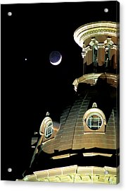 Venus And Crescent Moon-1 Acrylic Print