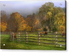 Vermont Farm In Autumn Acrylic Print