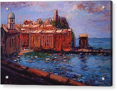 Vernazza From The Train Acrylic Print by R W Goetting