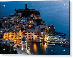 Acrylic Print featuring the photograph Vernazza Harbor by Carl Amoth
