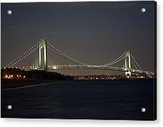 1 Verrazano Narrows Bridge At Twilight Acrylic Print