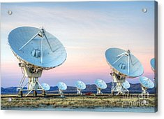 Very Large Array Of Radio Telescopes  Acrylic Print by Bob Christopher