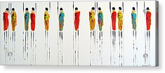 Vibrant Masai Warriors - Original Artwork Acrylic Print