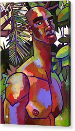 African Forest Acrylic Print by Douglas Simonson