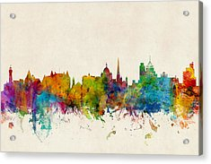 Victoria Canada Skyline Acrylic Print