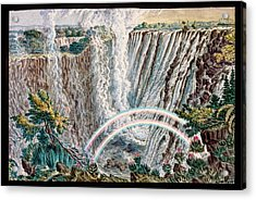Victoria Falls Rainbows Acrylic Print by Gustoimages/science Photo Libbrary