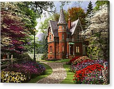 Victorian Cottage In Bloom Acrylic Print