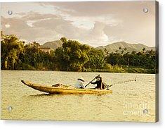Vietnamese Fishermen Acrylic Print by Fototrav Print