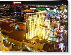 View From Eiffel Tower In Las Vegas - 01132 Acrylic Print by DC Photographer