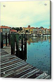 View From The Boardwalk  Acrylic Print by K Simmons Luna