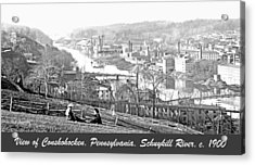 View Of Conshohocken Pennsylvania C 1900 Acrylic Print