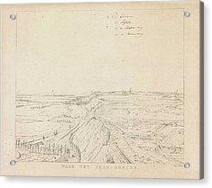 View Of The Countryside Southeast Of Nijmegen Acrylic Print by Derk Anthony Van De Wart