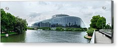 View Of The European Parliament Acrylic Print by Panoramic Images
