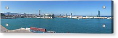 View Of The Port Of Barcelona Acrylic Print