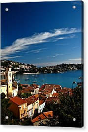 Villefranche-sur-mer Acrylic Print by Stephanie Tomlinson