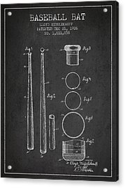 Vintage Baseball Bat Patent From 1926 Acrylic Print by Aged Pixel