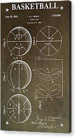 Vintage Basketball Patent Acrylic Print