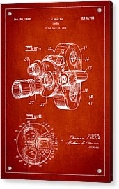 Vintage Camera Patent Drawing From 1938 Acrylic Print