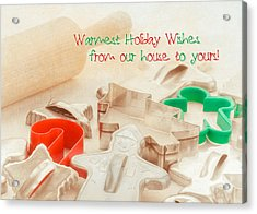 Vintage Christmas Cookie Cutters  Acrylic Print by Marianne Campolongo