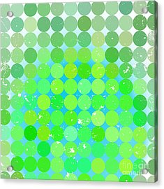 Vintage  Circles Pattern.geometric Acrylic Print