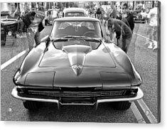 Vintage Corvette Acrylic Print by Ann Patterson