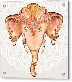 Vintage Elephant Illustration.hand Draw Acrylic Print by Polina Lina