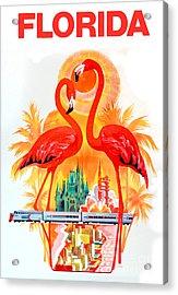 Vintage Florida Travel Poster Acrylic Print
