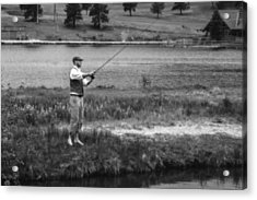 Acrylic Print featuring the photograph Vintage Fly Fishing by Ron White