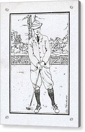 Vintage Golfer Acrylic Print