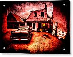 Vintage Grunge Background Acrylic Print by Kasper Nymann